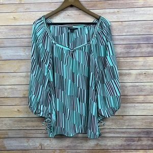 Banana Republic Striped Tie Sleeve Blouse